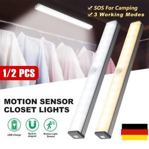 LED Unterbauleuchte Mit Bewegungsmelder Batterie Licht Leiste Küche Schrank DE