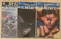 Lot of 3 Comics DC UNIVERSE REBIRTH Superman Batman Rebirth #1