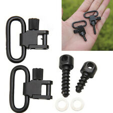 "2PCS Gun or Rifle Sling Quick Detach 1"" Swivel Set Sport Hunting Kits w/Screw"