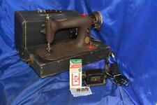 SINGER 15 CLASS FIDDLE BODY BROWN CRINKLE SEWING MACHINE SERVICED 1886 NICE