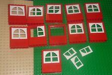 LEGO - WINDOW 2 x 6 x 6 Freestyle w/ WHITE Window Pane, RED x 11 6236c01 ZY104