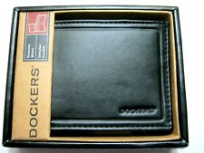 Dockers Mens Leather Bifold Wallet 31DP2203 Black