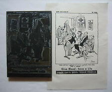 1951 Original George Lichty Grin and Bear It of Give Blood - Save a Life Plate