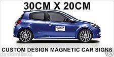 Magnetic Vehicle Signs for Cars, Vans, Trucks 20cmx30cm