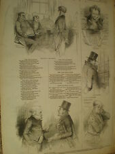 Il panico Kenny Meadows Illustrated London City Life 1847 Old print