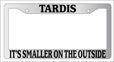 Chrome License Frame Tardis It's Smaller On The Outside Doctor Who