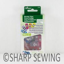 CLOVER WONDER CLIPS ASSORTED COLORS (50 PIECES) #3183 for CRAFTS and HOBBIES