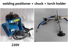 """220V Rotary Welding Positioner Turntable + 2.5"""" 3 Jaw Lathe Chuck + Torch Holder"""