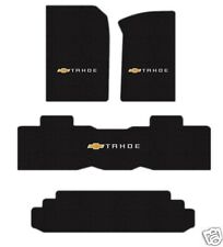 Tahoe (15-17) Floor Mat Set with bench Logo on all 3 4 pce for SUV with 3rd row