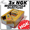 3x NGK Spark Plugs for TRIUMPH 885cc T509 Speed Triple 96->10/98 No.4929