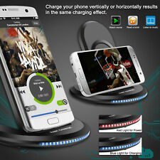 Smart Fast Qi Wireless Charger Charging Pad Stand Dock for Galaxy Note 8/iPhone8