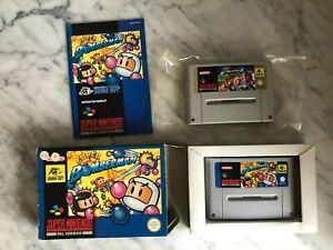 Nintendo SUPER BOMBERMAN & SUPERBOMBERMAN 2 SNES Games By Hudson Soft Rare Game