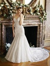Tulle Plunging A-line Wedding Dresses