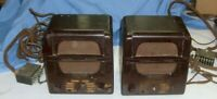 2 Webster Electric Teletalk Speakers  tube type units for repair , intercom ?
