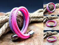 Segeltau Armband NEU Pink Rosa Lila Handarbeit Damen Herren Magnetverschluß