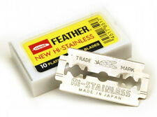 Feather Hi-Stainless Platinum Coated Double Edge Razor Blades AUS SELLER