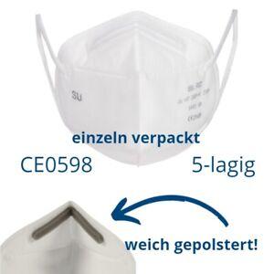 FFP2 NR Masken CE 0598 25 Atemschutzmasken ohne Ventil EU-Standard Fachhandel