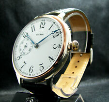 Cyma Antique 1930 Pre-Wwii Era Beautiful Deco Large Watch