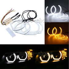 4pcs Amber White Crystal DTM Style LED Angel Eyes Halo Rings For BMW E92 E90