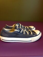 Converse Classic All Stars Navy Canvas Shoes Size 12 Youth Blue Gym Sneakers