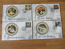 1999 Benham Silk Covers GB BS17-20  WORKERS TALE   (4 covers)