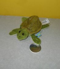 "6"" Sea Turtle Coke International Bean Bag Collection 1999 Salty Bahamas w/ Tag"