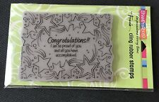 Stampendous -CONGRATULATIONS !! - Cling Rubber Stamp -BNIP