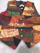 DS DON'T STOP: WOMEN'S COLLAGE VEST SIZE M  MADE IN INDIA