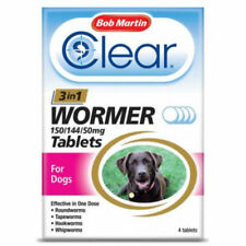 3 in 1 Dewormer Tablets for Dogs - 4 Tablets!