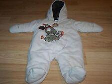 Infant Size 3-6 Months Babies R Us Snowsuit Winter Coat Tan Brown Puppy Dog EUC