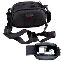 Black Camera Case Bag Pouch For Nikon 1 AW1 S1 V2 J5 J4 V3 J3 with Prime Lens