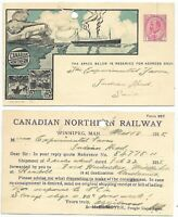 Used Postal Stationary Post Card CANADIAN NORTHERN RAILWAY - NTH 4
