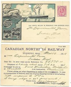 Used Postal Stationary Post Card CANADIAN NORTHERN RAILWAY - NTH 3