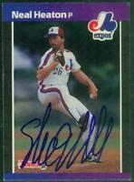 Original Autograph of Neal Heaton of the Montreal Expos on a 1989 Donruss Card