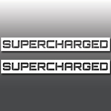 2x Mini Cooper S Supercharged Badge Car Vinyl Decal Sticker | R53 | GP | BMW JCW