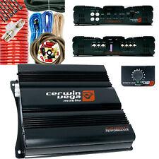 Cerwin Vega Cvp1600.1D Single Channel 1600W Stable Class D Amp + 4 Ga Amp Kit