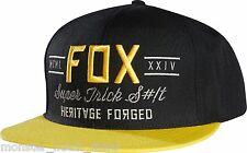 BRAND NEW WITH TAGS Fox Racing OBSCURE SnapBack Hat BLACK LIMITED RELEASE RARE