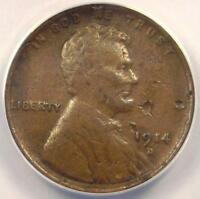 1914-D Lincoln Wheat Cent 1C - ANACS VF30 Details - Rare Date Certified Penny