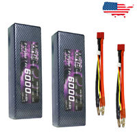 2x HRB Lipo Battery 2S 6000mAh Hardcase for 1/10 1/8 Scale for Traxxas Car Boat