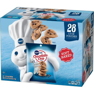Pillsbury Soft Baked Mini Chocolate Chip Cookies (1.5 oz, 28 Ct) Great Deal!