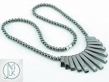 Hematite Collar Natural Gemstone Necklace 18.5'' Healing Chakra Healing