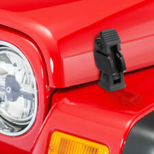 Hood Secure Hold Down Lock Latch Bodies+Bracket Kit for 97-06 Jeep Wrangler TJ