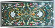 3'x2' Marble Dining Table Top Multi Stone Birds Floral Inlay Hallway Decors B204