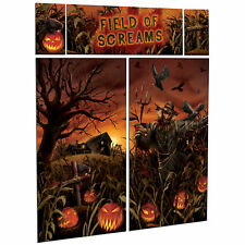 Pumpkin Field of Screams Halloween Party Scene Setter Wall Decorating Kit