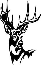 deer head white tail buck doe     LEFT OR RIGHT  VINYL DECAL STICKER 561