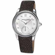 Frederique Constant Maxime Ladies Watch FC-700MPWD3MD6 Women's Diamonds Leather