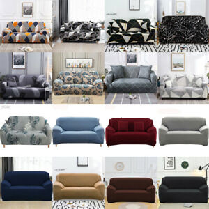 1 /2 /3/4 Seater SofaCover Couch Lounge Protector Slipcovers High Stretch Covers