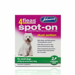 JOHNSONS 4FLEAS SMALL DOG SPOT-ON DUAL ACTION TREATMENT KILL FLEAS & LARVAE