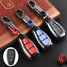 Carbon Fiber Remote Key Fob Case Shell Cover For Ford Focus Fiesta Kuga C-Max