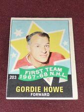 68-69 O-Pee-Chee #203 GORDIE HOWE First Team 1967-68 ALLSTAR